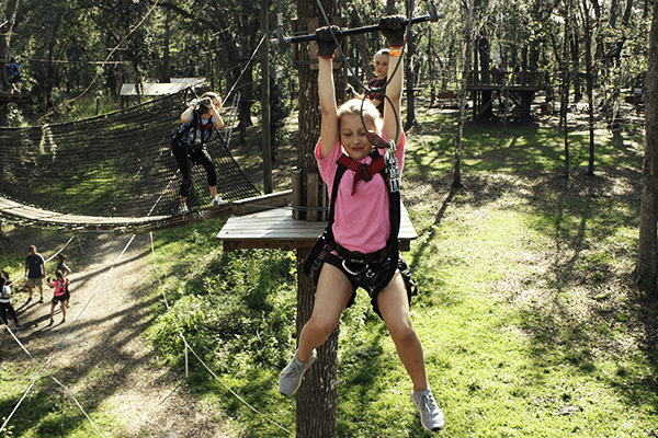 Trapeze swing across - TreeHoppers - Dade City, FL