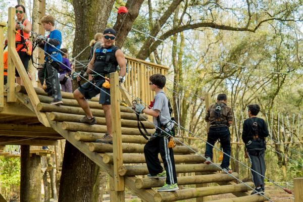 School Group Adventures at TreeHoppers Aerial Adventure Park