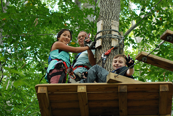Friendly Get Together At TreeHoppers Aerial Adventure Park
