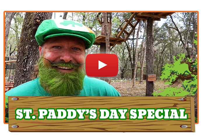 White River Ziplines - TreeHoppers St. Patty's Day Special!