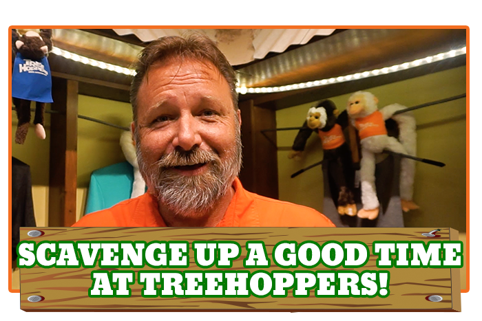 White River Ziplines - Scavenge up a good time at TreeHoppers!