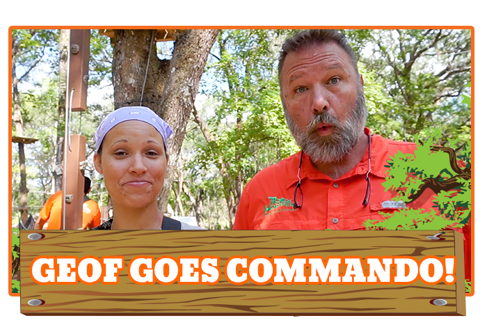 White River Ziplines - Geof Goes Commando at TreeHoppers!!!